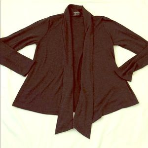 Open front Cardigan Charcoal Gray Large